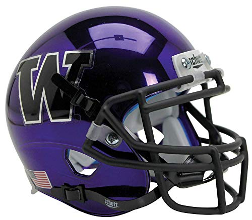 - Washington Huskies Alternate Purple Chrome Schutt Authentic Mini Football Helmet