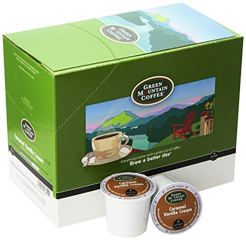 Green Mountain Coffee Roasters Caramel Vanilla Cream Coffee K-Cups for Keurig Brewers, 96 Count (24 Count, Pack of 4) - Packaging May Vary (Green Mountain Caramel Vanilla Cream K Cups)