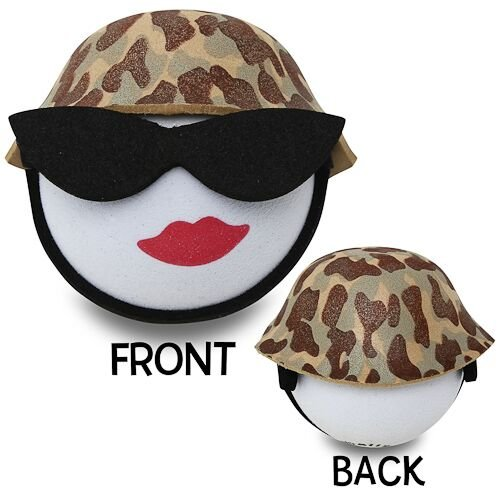 Quantity 3 pcs pack Female Cool Sunglasses Lady Army // Marine w Camo Hat Antenna Topper // Car Antenna Ball