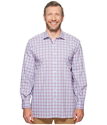 Polo Ralph Lauren Men's Big and Tall Long Sleeves Classic Fit Poplin Buttondown Shirt (1X Big, PearlRuby) ()