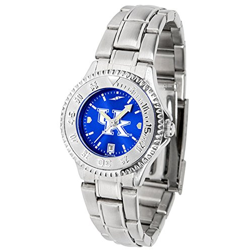 Kentucky Wildcats Competitor Steel Watch - New Linkswalker Kentucky Wildcats Ladies' Competitor Steel Anochrome Watch