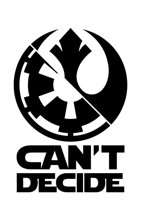 Amazon Bamfdecals Cant Decide Star Wars Dark Side Sith Jedi