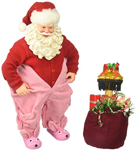 """Department 56 Possible Dreams Santa Claus """"Gift From Aunt Clara"""" Clothtique Figurine, 10"""