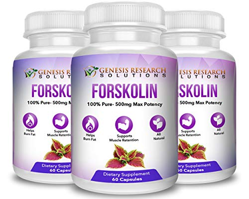Pure Forskolin Dietary Supplement, Appetite Suppressant for Weight Loss & Muscle Retention. Plus Metabolism & Energy Booster - 100% Natural Supplement Extr by Genesis Research Solutions (Image #3)