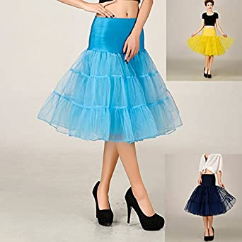 Red Boolavard 1950s Petticoat Underskirt Retro Vintage Swing 1950s Rockabilly White Black Pink Blue
