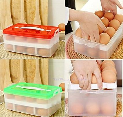 Amazon Redtwo Layer Plastic Food Chicken Egg Holder Storage