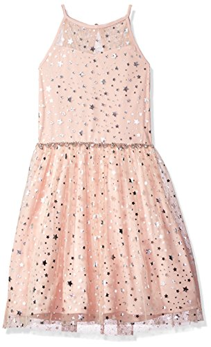 Amy Byer Girls' Big Star of The Party Dress, Peach, 7]()