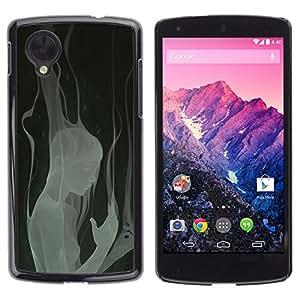 CASER CASES / LG Google Nexus 5 D820 D821 / Girl In Smoke - Goth / Delgado Negro Plástico caso cubierta Shell Armor Funda Case Cover