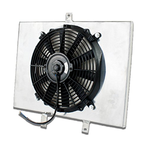 For Scion xB MT Aluminum Bolt-on Cooling Radiator Fan Shroud (Black) - 1st Gen