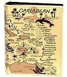 Caribbean Map Embossed Photo Album 200 Photos / 4x6