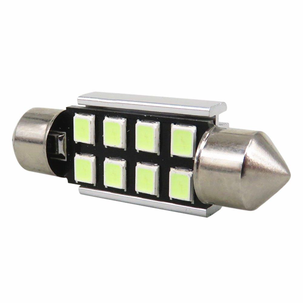 WLJH 10x 39mm Fest/ón LED Bombillas Super Brillante Blanco 3W 2835 Chipset Canbus Error Gratis 6411 7065 C5W 6418 LED Domo Interior Mapa Matr/ícula L/ámparas de luz