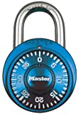 Master Lock Padlock, Standard Dial Combination Lock, 1-7/8 in. Wide, Blue, 1528DTGT