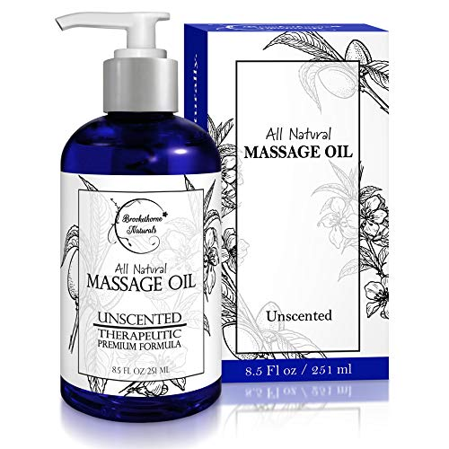 Review Almond Massage Oil - All Natural, Unscented Spa Quality Formula. Great for Massage Therapy, B...