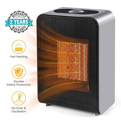 Conversion 86 Set (UOKOO Portable Space Heater, Indoor 750W/1500W Ceramic Electric Heater for Home/Office/Bedroom with Adjustable Thermostat, Personal Desk Heater)