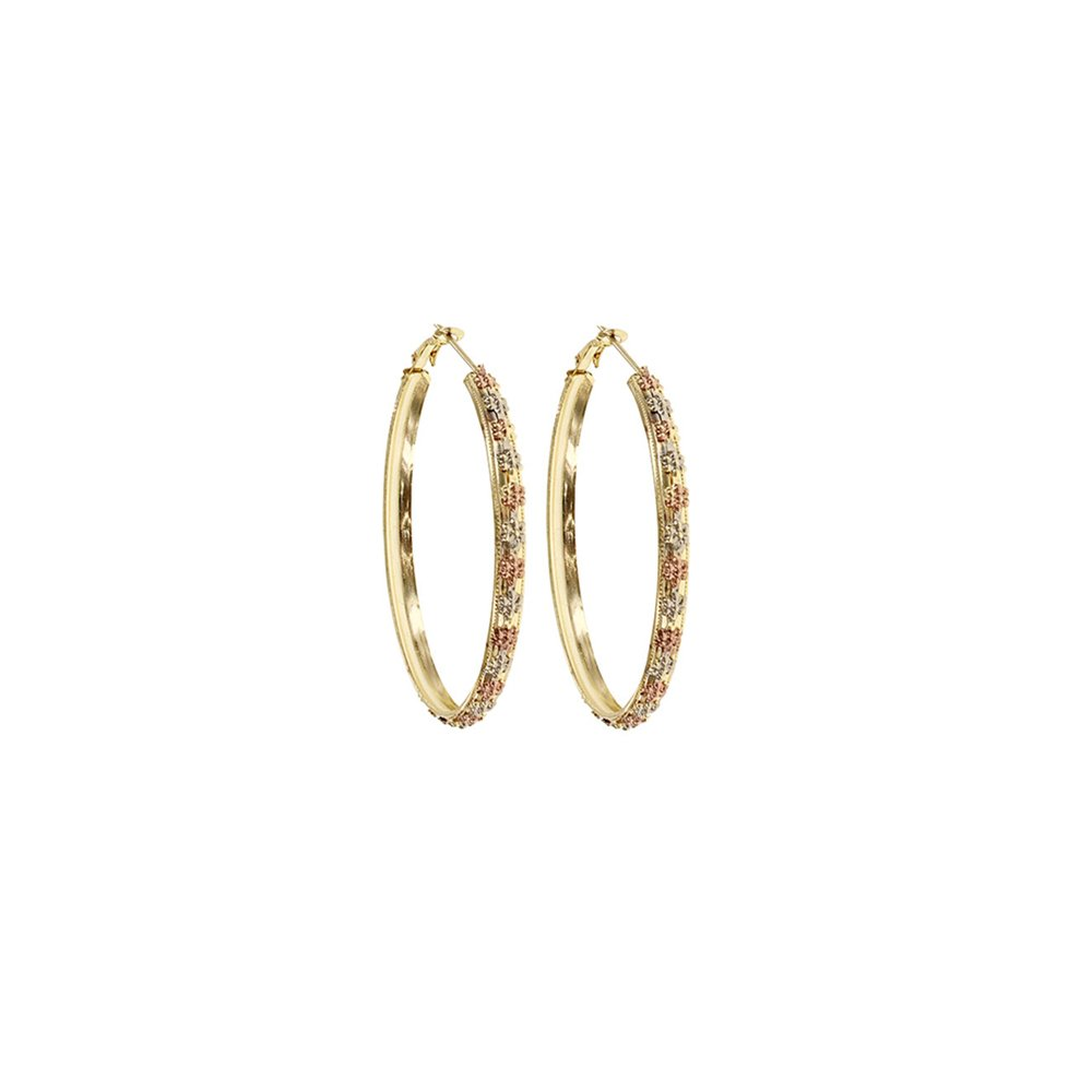 HappyDesign Floral Tri-color Hoops For Womens and Girls