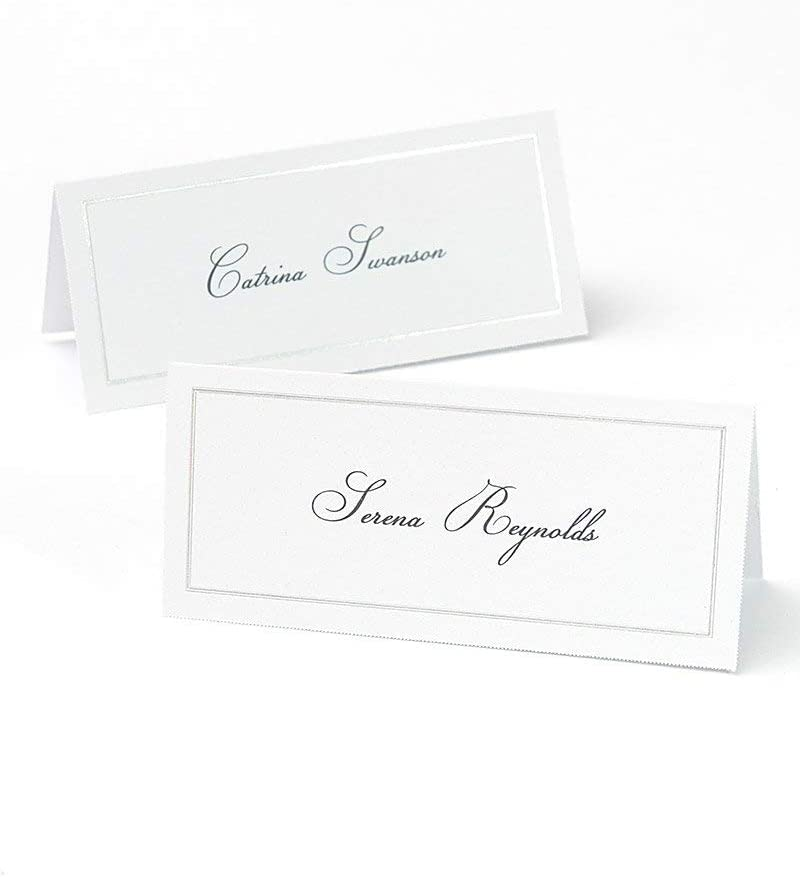 Platinum Foil Border Printable Place Cards