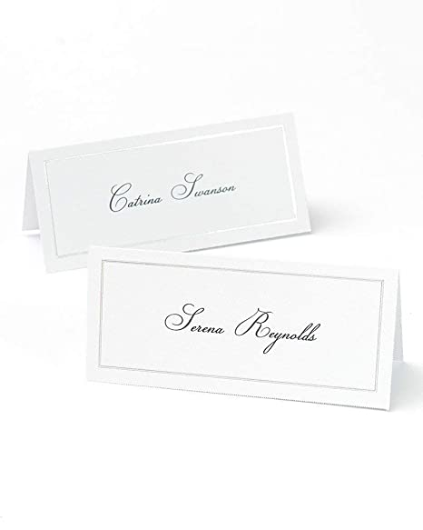 image regarding Printable Place Card Paper titled Platinum Foil Border Printable Destination Playing cards