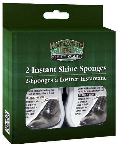 Moneysworth & Best Instant Shine Sponge-Pack of 2 (Instant Polish)