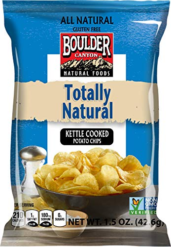 Boulder Canyon, Totally Natural Kettle Cooked Potato Chips, 1.5 oz. (55 Count)