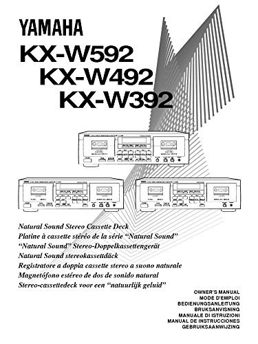 Yamaha KX-W492 Cassette Deck Owners Instruction Manual, used for sale  Delivered anywhere in USA