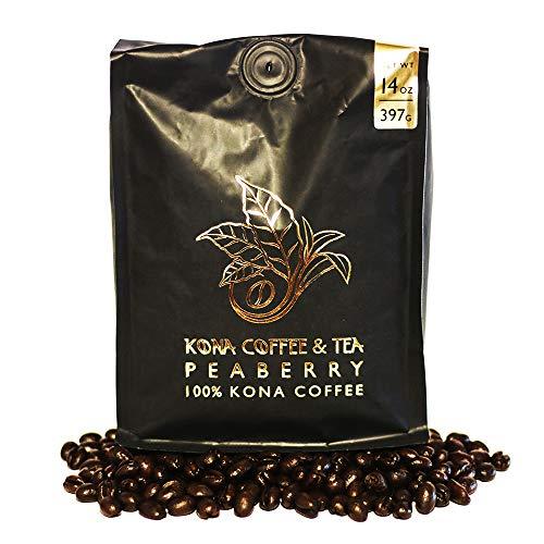 Hualalai Kona Coffee - Peaberry (1-14oz Bag) - 100% Kona Coffee : FIRST PLACE WINNER 2018 Kona Coffee Cultural Festival's Crown Division • Single Estate • 2-Day FedEx