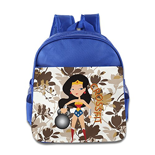 Children Wonder Woman CrossFit Small Backpack (2 Color:Pink Blue) - Austin And Ally Costumes For Kids