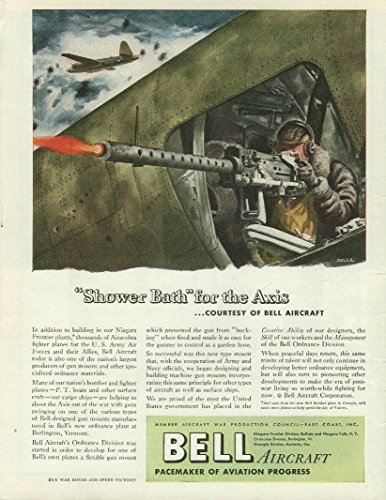 Shower Bath for the Axis courtesy of Bell Aircraft ad 1944