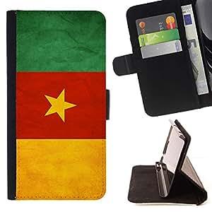 Momo Phone Case / Flip Funda de Cuero Case Cover - Nacional bandera de la nación País Camerún; - LG OPTIMUS L90