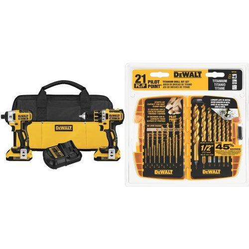 DEWALT-DCK281D2-20V-Max-XR-Lithium-Ion-Brushless-Compact-DrillDriver-Impact-Driver-Combo-Kit
