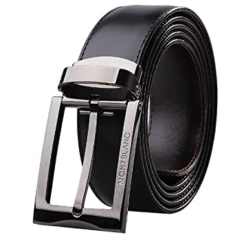 35842969a23 Image Unavailable. Image not available for. Color  Montblanc Contemporary  Belt Black Brown Reversible ...