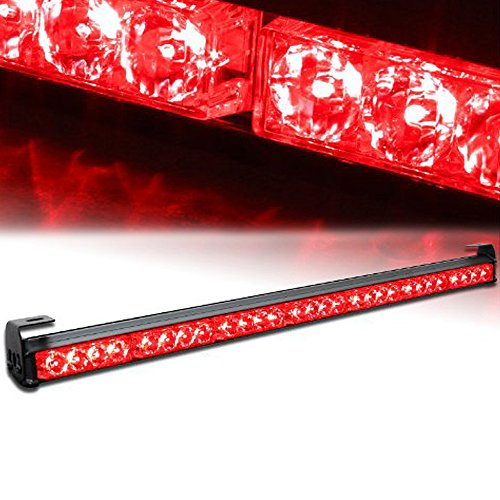 Xprite 31.5 28 LED 7 Modes Traffic Advisor Emergency Warning Vehicle Strobe Light Bar Kit (Red)