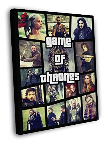 Awesome Art (Game of Thrones Characters Collage Awesome Painting Art Series 30x20 Framed Canvas Print)