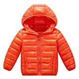 Happy Cherry Baby Hooded Down Coat Lightweight Puffer Jacket Warm Outerwear 3-7T