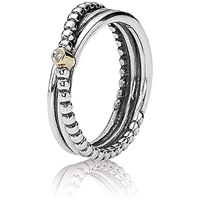 f3182a160 Pandora Ring Two Tone Rising Star 190243D: Amazon.co.uk: Jewellery