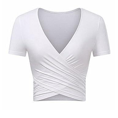 Oudan Verano Yoga Chaleco Moda para Mujer Sexy Bare Midriff ...