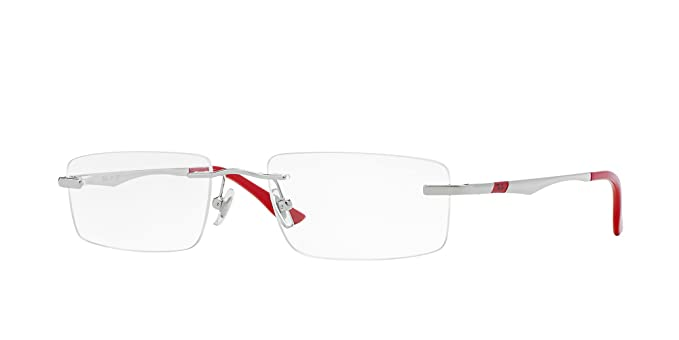 e44244c980712 Image Unavailable. Image not available for. Colour  Ray-Ban Rimless  Rectangular Men s Spectacle Frame ...