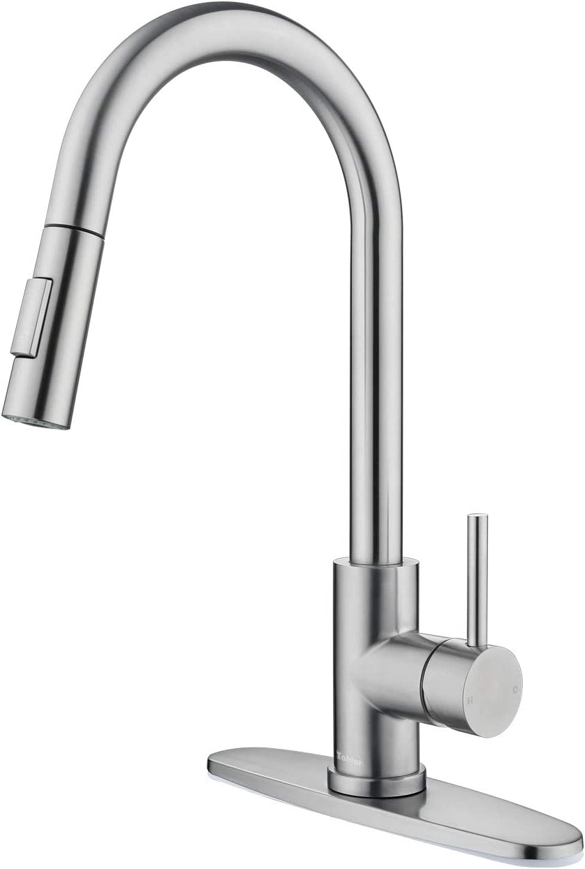Shop Tohlar Kitchen Sink Faucets with Pull-Down Sprayer from Amazon on Openhaus