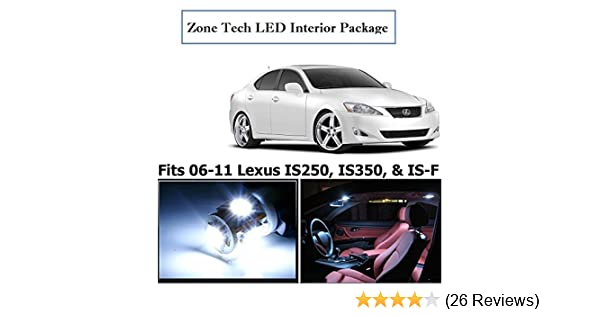 Classy Autos Lexus IS250 IS350 IS-F White Interior LED Package (8 Pieces)