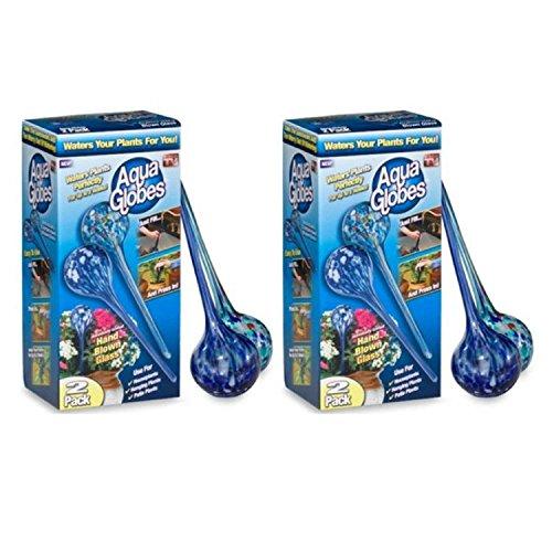 (Aqua Globes AG011706 Glass Plant Watering Bulbs - 2 Box of 2 Pack)