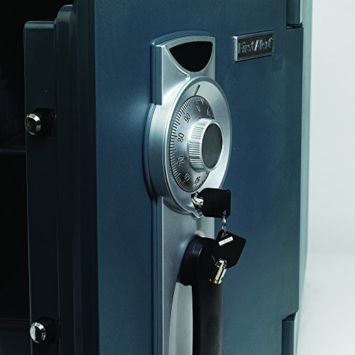 First Alert 2087F Waterproof and Fire-Resistant Bolt-Down Combination Safe, 0.94 Cubic Feet