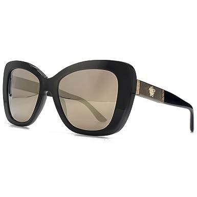 8a9aae8ab6f Versace Medusa Logo torché lunettes de soleil miroir or brun noir ...