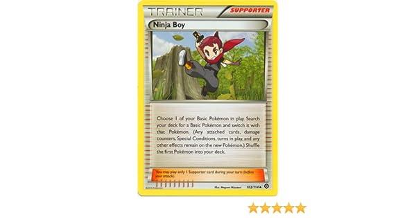Amazon.com: Pokemon - Ninja Boy (103/114) - XY Steam Siege ...