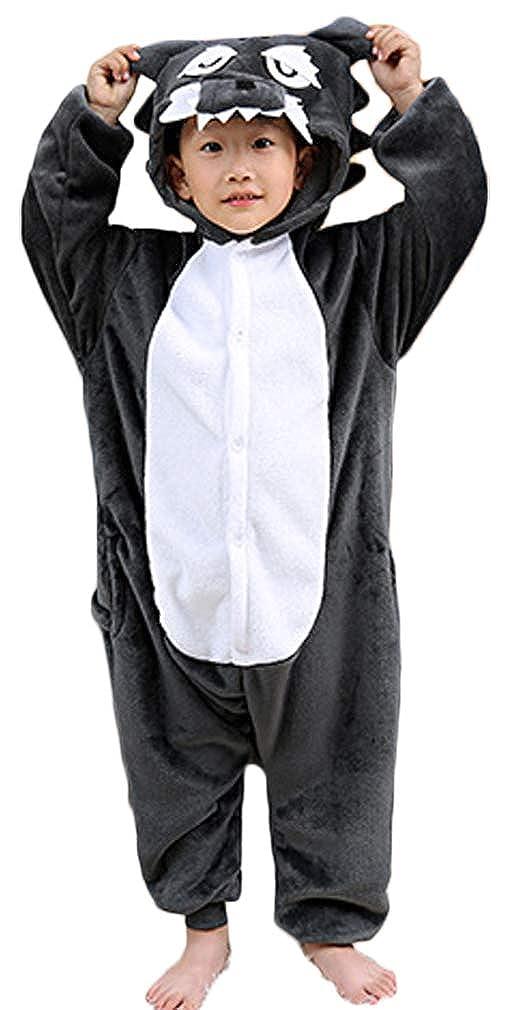 Socluer Kinder Unisex Mä dchen Jungen Schlafanzug Cartoon Fleece Loose Casual Einhorn Jumpsuit Overall Cosplay Tierkostü me