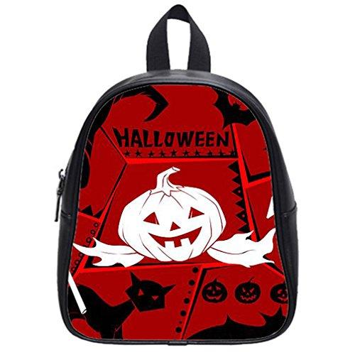 [JIUDUIDODO Multifunctional PU Leather Custom Cool Halloween Evil Jack with Bat School Bags Backpacks Outdoor Bags Travel Bag] (Spider Costume Pattern Free)