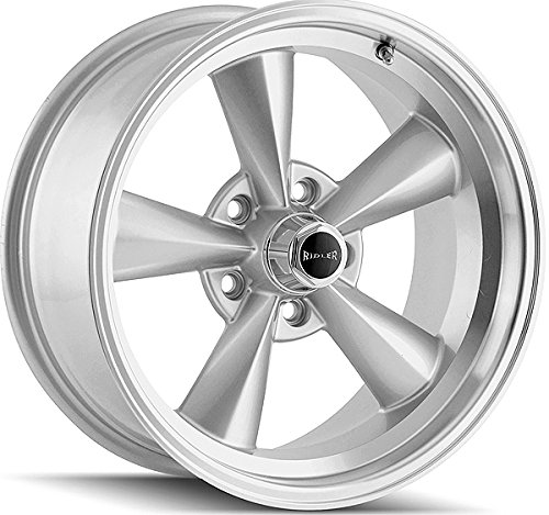 Ridler 675 Silver Wheel with Machined Lip (17x8'/5x120.65mm)