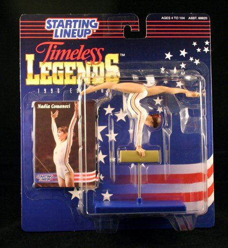 - Starting Lineup NADIA COMANECI / OLYMPIC ROMANIAN WOMEN'S GYMNASTICS (1976 SUMMER OLYMPICS) 1996 TIMELESS LEGENDS Kenner Exclusive Collector Trading Card