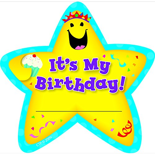 CREATIVE TEACHING PRESS STAR BADGES ITS MY BIRTHDAY 36/PK (Set of 24) by Creative Teaching Press