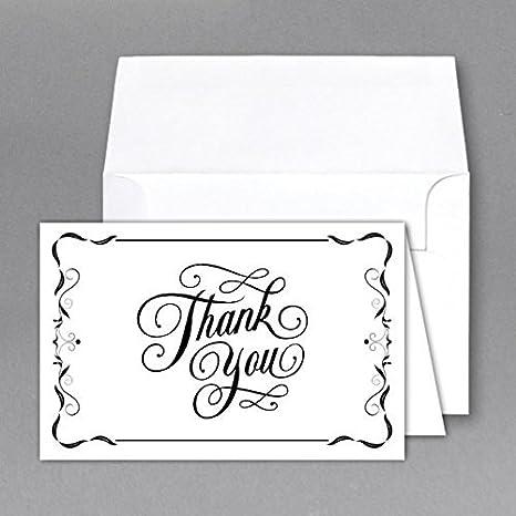 S Superfine Printing Gracias tarjeta de cartas y sobres 25 ...
