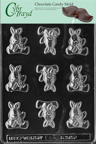Cybrtrayd Life of the Party E450 Baby Bunny Easter Chocolate Candy Mold in Sealed Protective Poly Bag Imprinted with Copyrighted Cybrtrayd Molding Instructions -