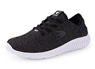 Ezywear Women's Running Shoe Fashion Sneaker Breathable Shock Absorbing Walking Shoe Sport Cross Trainer Shoe (6.5,Black Fantasy)